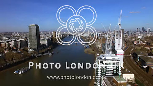 Aerial Shot Of Construction Building In Central London