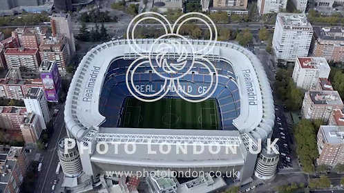 The Santiago Bernabéu Aerial View Football Stadium In Madrid, Spain