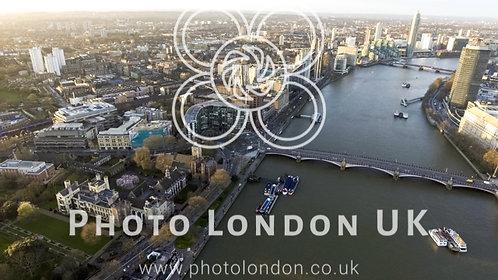 Lambeth Palace Garden Museum Bridge River London Aerial