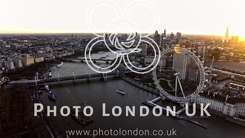 Aerial View Photo In Central London Landmark Iconic London Eye Wheel