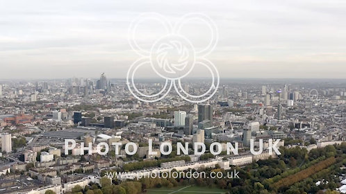 Aerial View Cityscape Of London Urban Residential Neighborhood