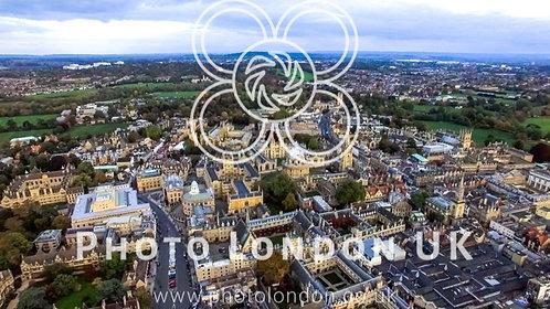 Aerial View University Of Oxford Iconic Education Landmark