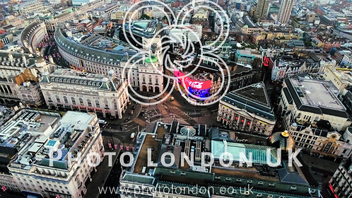 Aerial View Image Of Iconic Landmark Piccadilly Circus In London City Center