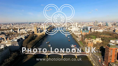 4K Aerial View Above The London City Of Westminster