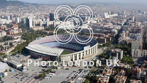Aerial View Of Camp Nou Is The Home Stadium Of Famous Fc Barcelona In Spain