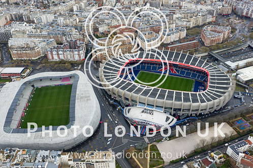 Aerial View Of Le Parc Des Princes Soccer And Stade Jean Bouin Rugby Stadium