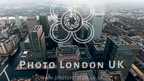 Aerial View Photo Of London City Financial District And Skyscrapers