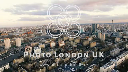 New Aerial View Of Modern London City Town 4K