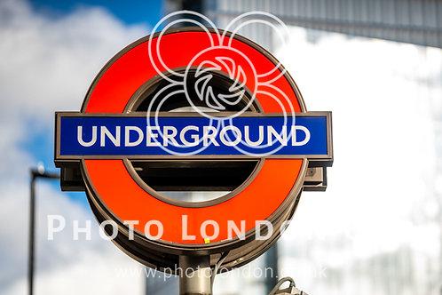 Underground Symbol Logo And Subway Sign In London