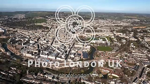 Aerial View Of Bath City Footage