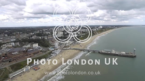 Aerial View Of Bournemouth Cityscape Feat. Beach And Pier 4K