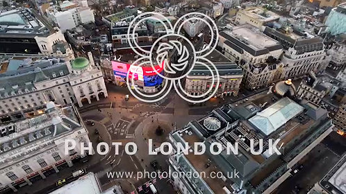 Aerial View Of Piccadilly Circus London, England