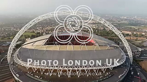 Aerial View Of Wembley Stadium In London 4K Uhd Footage