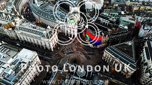 London Piccadilly Circus Aerial Above 4K Image Photo