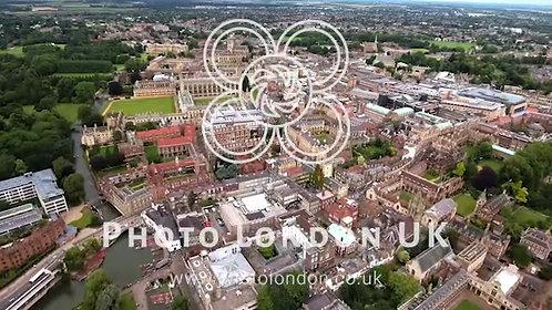 Beautiful Aerial Video Of Cambridge Cityscape 4K