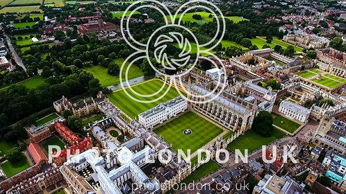 Aerial View Stock Photo Of Cambridge University Uk