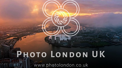 Aerial View Above London O2 Arena By The River Thames