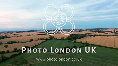 4K Aerial View Above Farm Landscape