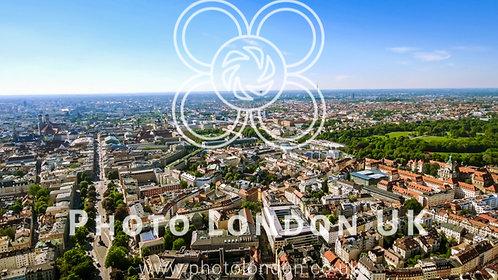 New Munich Skyline Cityscape Aerial View