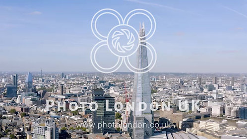 Aerial Cinematic Shot Of The Central London Skyline Feat. The Shard Building