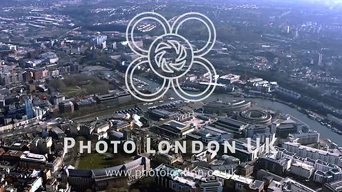 Flying Over Bristol City Around River Avon In England Uk