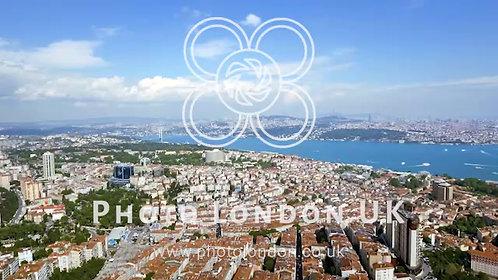 Beautiful Bosphorus View In Istanbul Aerial Video