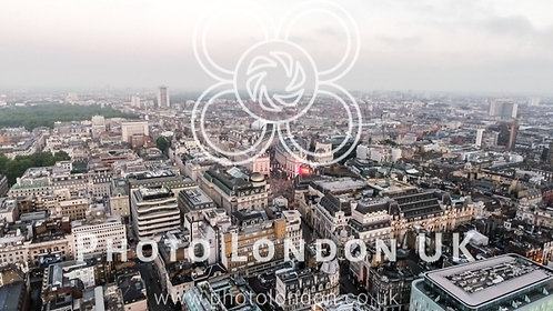 London City Central Town Skyline Aerial View