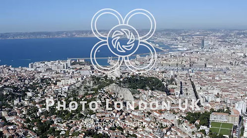 Aerial View Of Marseille Port City In Southern France
