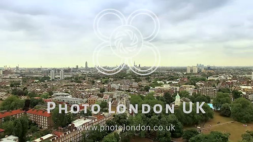 Aerial View Of London City Footage (4K - Uhd)