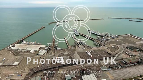 Aerial View Of Dover Harbour, UK