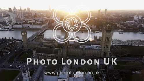 4K Aerial View London Uk Parliament Big Ben Clock Tower
