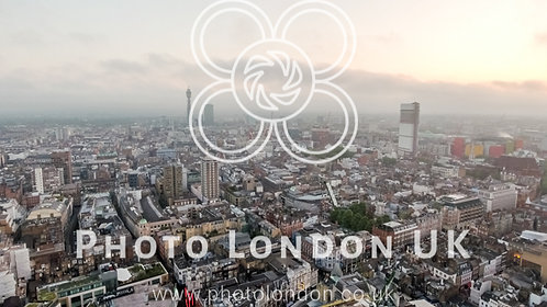 London Town Centre City Aerial View Uk