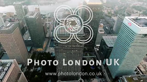 Aerial View Directly Above The Distinctive Towers Of London's Financial District