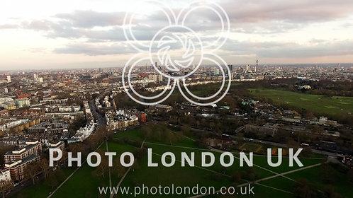 Aerial Urban View Of London City Primrose Hill Park
