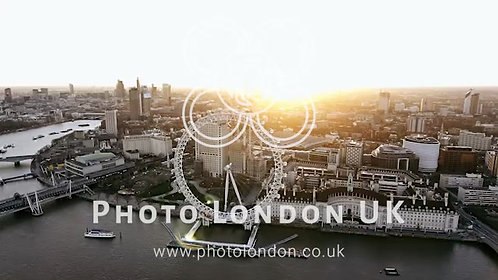 Aerial View Of The Iconic Riverside London Eye Observation Wheel 4K
