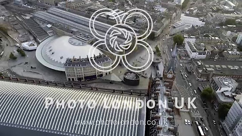 Aerial View Of London Streets By Kings Cross And St Pancras Railway Stations