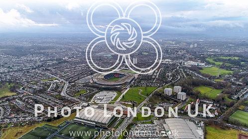 Hampden Park Scottish National Football Stadium In Glasgow Aerial View