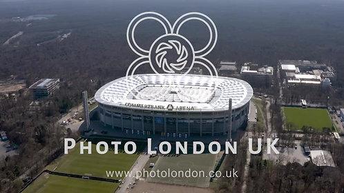 Commerzbank Arena Stadium Aerial View In Frankfurt Germany