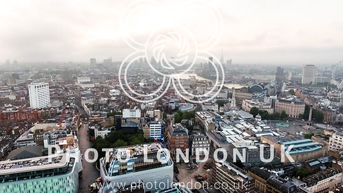 London Cityscape Town Centre Aerial View Skyline And Landmarks