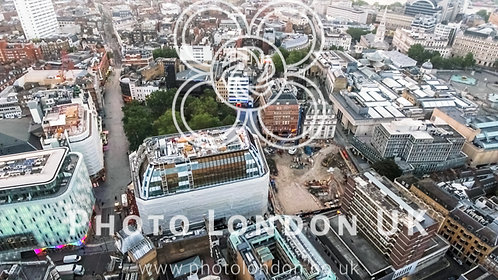 London City Town Centre Aerial View In Leicester Square