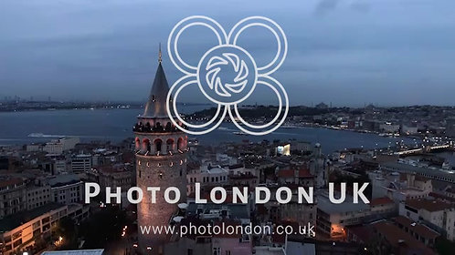 The New Istanbul Skyline And Galata Tower Aerial View 4K
