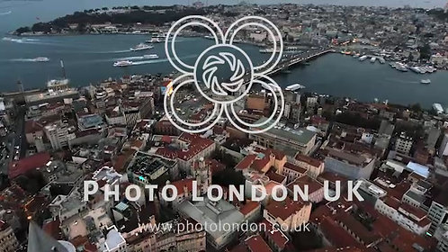 Istanbul Old City Aerial View Feat. Historical Town Golden Horn