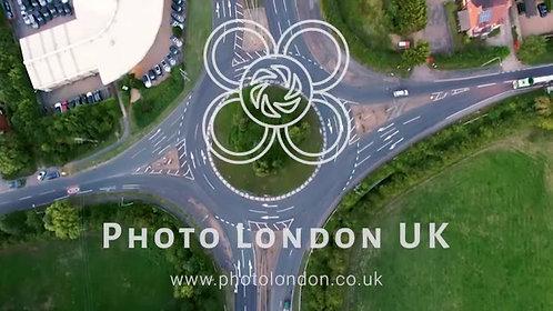 4K Aerial View Of Motorway Junction