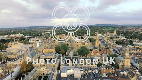 4K Aerial View Video Of Oxford University
