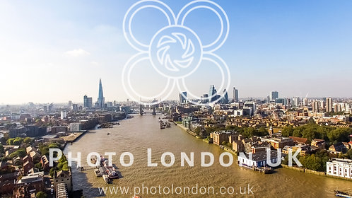 London City Skyline Aerial View With Famous Landmarks