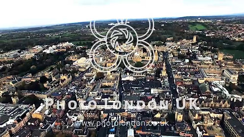 4K Oxford City And University, England Aerial Helicopter View Footage