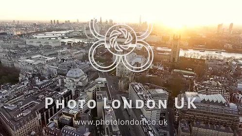 4K Panoramic Aerial Shot Of Houses Of Parliament & Big Ben