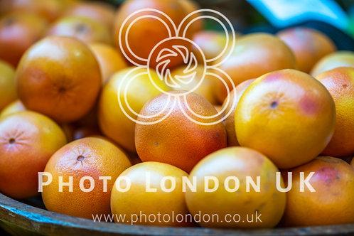 Fresh Oranges In Market