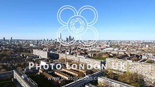 Aerial View Urban Area Of London City 4K