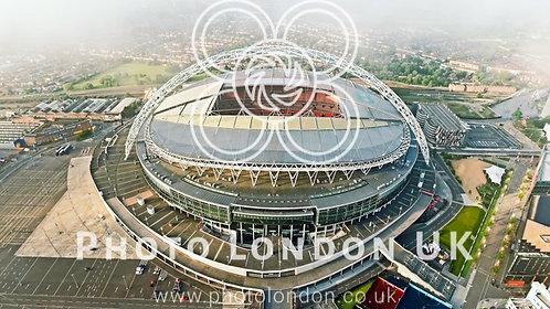 London Wembley Stadium Aerial Football 4K Image Photo